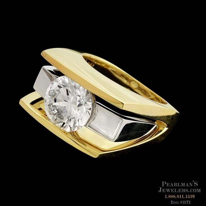 Eddie Sakamoto Jewelry 18k Yellow Gold Ring With White