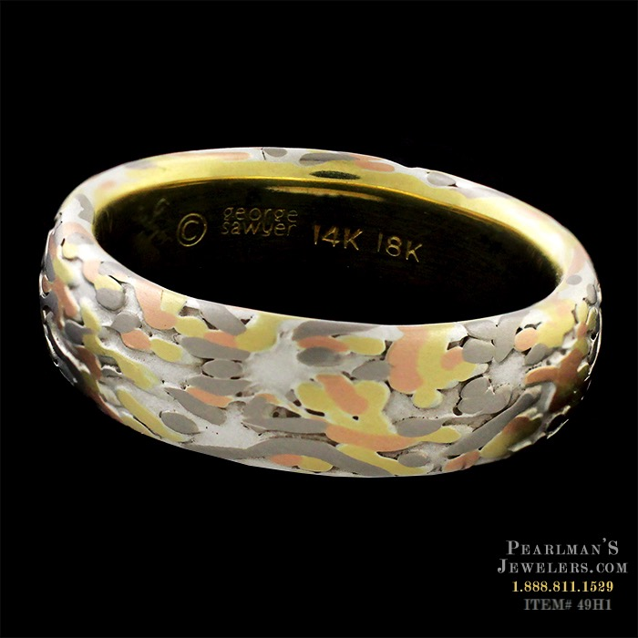 George Sawyer Jewelry Koi Wabi Sabi Yellow Gold Ring