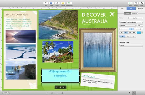 how to create travel brochure