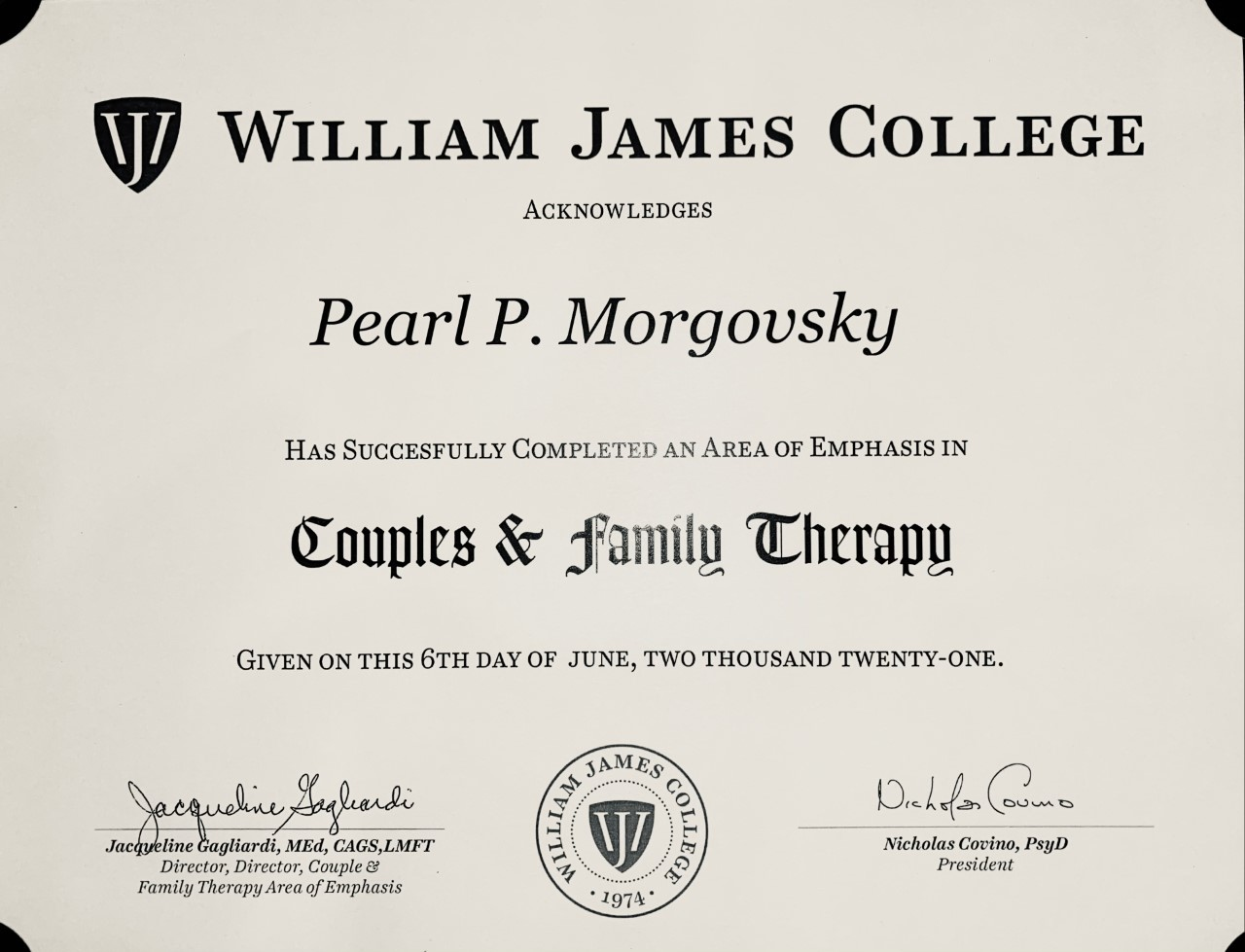 CoC William James College : Couples & Family Therapy