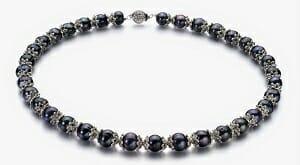 black keshi pearl necklace