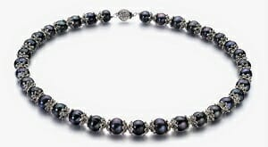 black keshi pearl necklace