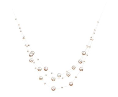 illusion contemporary pearl necklace designs