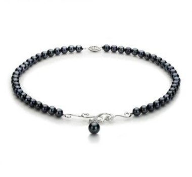 black Japanese Akoya pearl necklace
