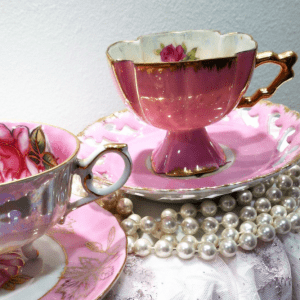 high tea party porcelain cup