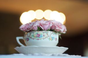 tea party table center piece