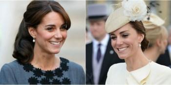 duchess of cambridge wearing vintage pearl earrings