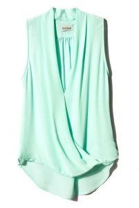 mint blouse