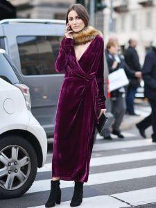 velvet violet dress