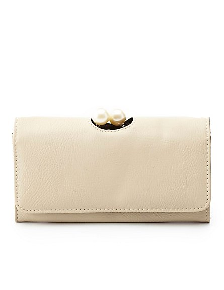 pearl wallet tan
