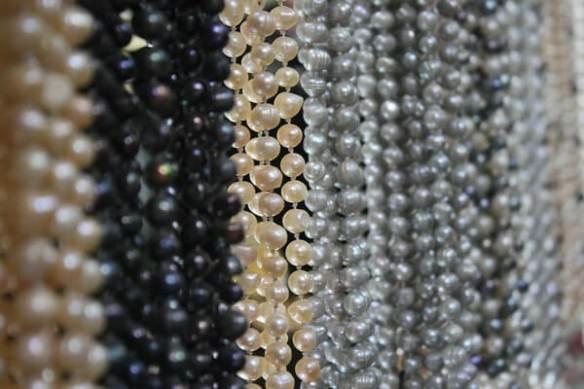 strings of baroque pearls