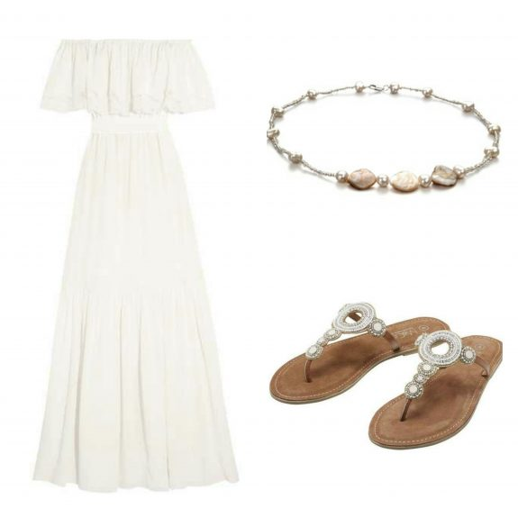 outfit suggestion with affordable pearl necklaces