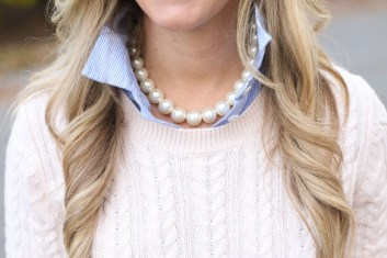 young lady wearing pearls