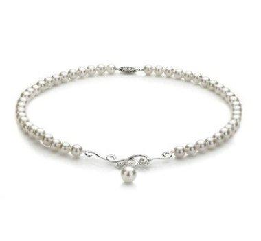 white Japanese Akoya pearl necklace