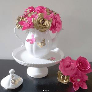 tea party flower decorations