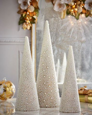 white pearl christmas ornaments
