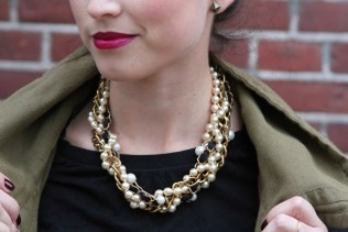 diy chunky pearl necklace