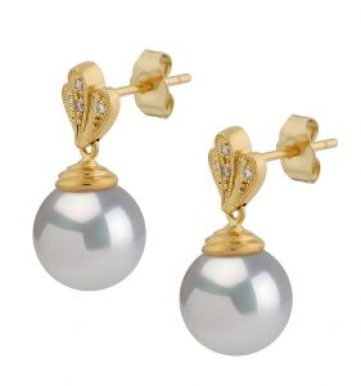 white south sea pearl earrings