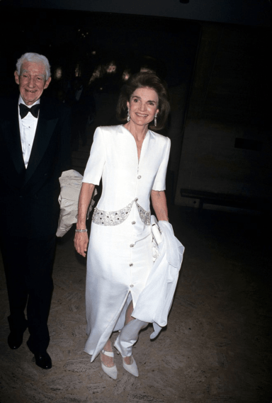 jackie o wearing white