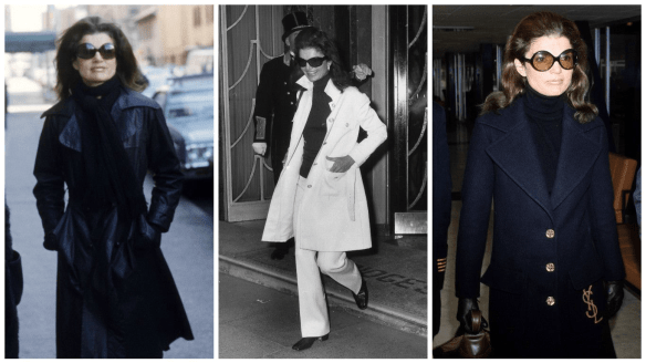 jackie o kennedy wearing coats