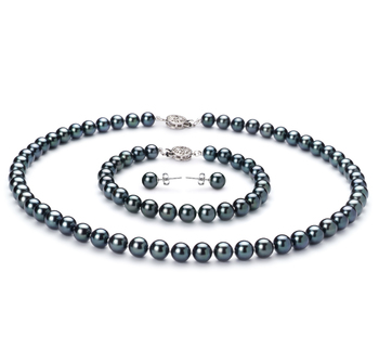 set of black Akoya Pearls