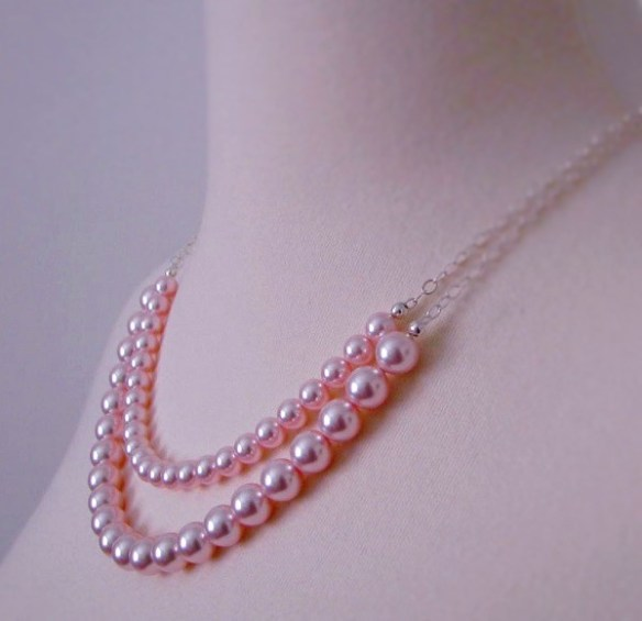 double stranded pearl necklace