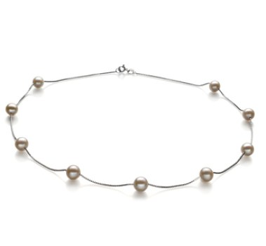 silver chain contemporary pearl necklace designs