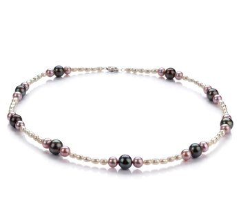 designer pearl accessories multicolored pearl necklace