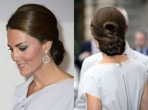 romatic hair updo