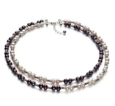 double strand pearl choker