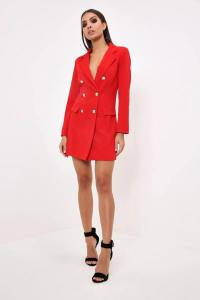 red blazer dress