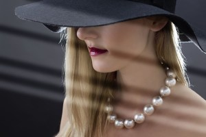 makeup and pearls