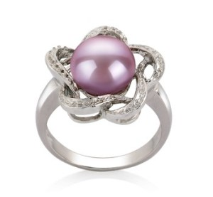 wearing a pearl ring