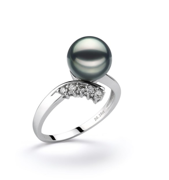 sophisticated black pearl wedding ring - Pearl Wedding Ring