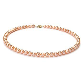Tragen Sie eine Perlenkette rosa