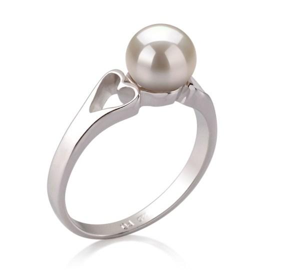Perlenringe mit Einzelstein