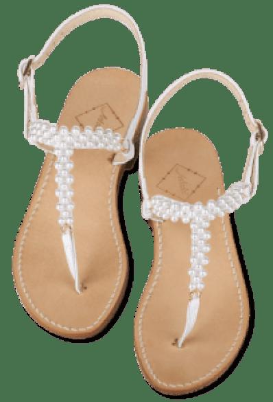 Perlenbrautand-Sandalen