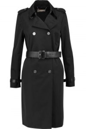 black clothing trench coat