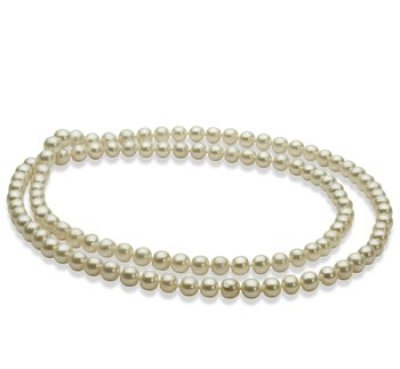 rope of white pearls