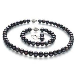 Schwarze Perlen-schwarze Accessoires