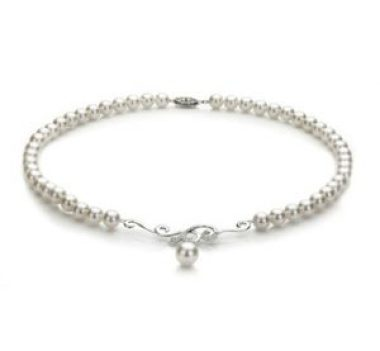white Japanese Akoya pearl necklace
