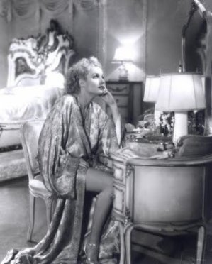 old hollywood astar in silk robe