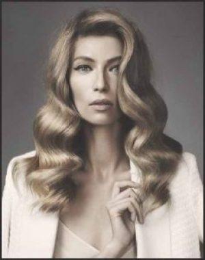 Alte hollywood Glamhaar Vintage-Curly Haare