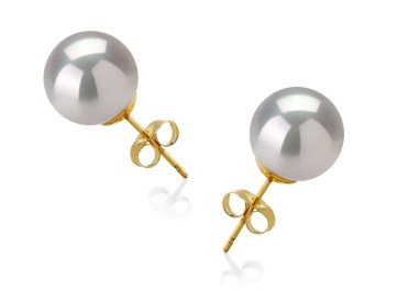 white south sea pearl earrings studs