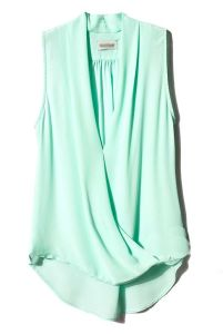 mint blouse