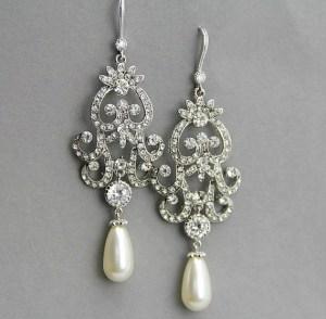 drop pearl earrings with diamonds