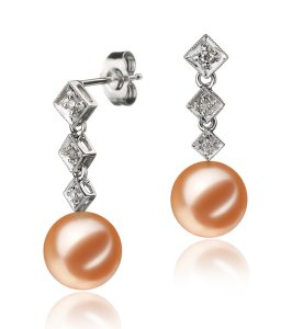 rozene pink pearl earrings