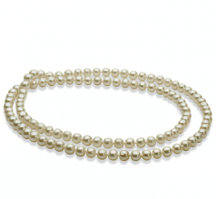 white champagne pearl necklace