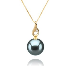 blue pearl necklace pendant