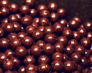 Schokoladen-Perlenohrringe